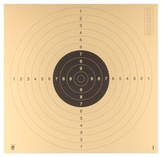 Photo 10 cibles C50 hydrofuge 55 x 55 pistolet ou carabine