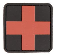 Photo Patch PVC premier secours croix rouge 5.5 x 5.5cm