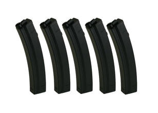 Photo Lot de 5 chargeurs MP5 mid-cap 100 billes - King Arms