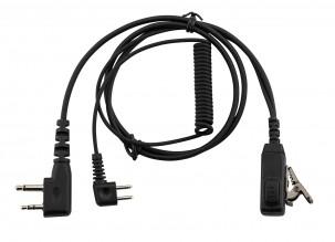 Photo Cordon pour casque anti-bruit compatible PELTOR avec micro switch P9