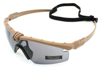 Photo Lunettes Battle Pro Thermal Tan/Smoke - Nuprol