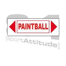 Photo Panneau paintball fléché