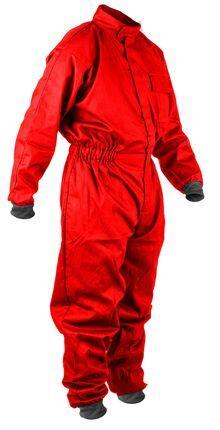 Photo Combinaison tissu enfant rouge