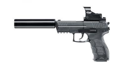 Photo Pistolet CO2 H&K P30 en kit complet cal. 4,5 mm