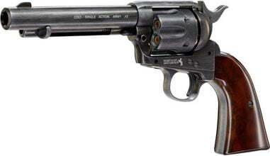 Photo Revolver CO2 Colt Simple Action Army 45 antique à diabolos cal. 4.5 mm