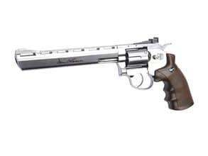 Photo Revolver CO2 Dan Wesson silver 8'' BB's cal. 4,5 mm