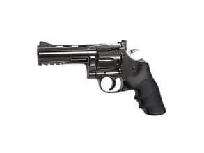 Photo Revolver CO2 Dan Wesson steel grey 4'' cal. 4,5 mm bbs