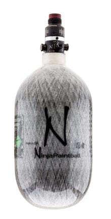 Photo Bouteille Ninja Kevlar 1. 1l grise avec régulateur pro 4500 psi