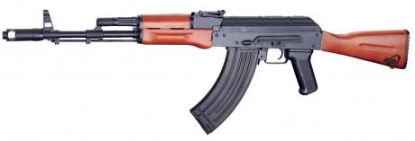 Photo Réplique AEG AK74 métal et bois pack complet 1.2J Blowback