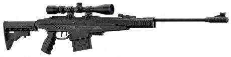 Photo Pack carabine à air tactique break barrel PENDLETON Cal. 4,5mm + lunette 3-9x40