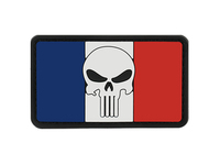 Photo PVC Skull Flag France Patch