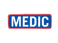 Photo Patch PVC Medic Blanc et Bleu