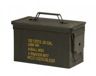 Photo US Ammo box Metal Cal.50 / 5.56 Used