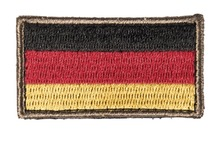 Photo German flag embroidered patch 3.5 x 6cm