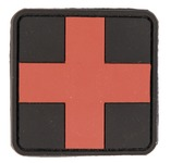 Photo PVC patch first aid cross red 5.5 x 5.5cm