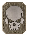 Patch PVC Tête de mort OD Green 6 x 4.5cm