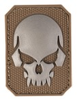 Patch PVC Tête de mort Tan 6 x 4.5cm