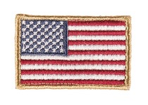 Photo Embroidered patch USA flag color 4 x 6cm