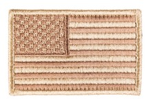 Photo Patch embroidered flag USA Tan 4 x 6cm