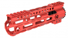 Photo Garde main M-LOK free floating 7' rouge