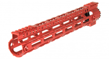 Photo Garde main M-LOK free floating 12,5' rouge
