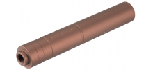 195mm Aluminium Dot Mock Suppressor Dark Earth