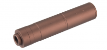 155mm Aluminium Dot Mock Suppressor Dark Earth