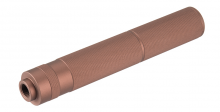 Silencieux aluminium 195mm Knurled Mock Dark Earth