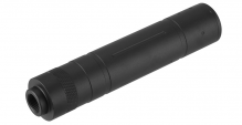 155mm Aluminium Knurled Mock Suppressor Black