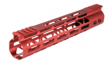 Photo Garde main Aluminium Speed Skeleton M-LOK 10' Rouge