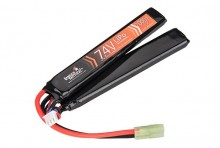Photo Batterie Lipo 7,4V 2000mAh 15C double stick