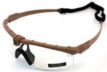 Photo Lunettes Battle Pro Thermal Tan/Clear avec insert - Nuprol