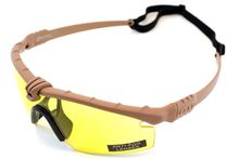Photo Lunettes Battle Pro Thermal Tan/Jaune avec insert - Nuprol