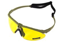 Photo Battle Pro Thermal Green / Yellow Sunglasses with Insert - Nuprol