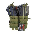 Photo Pouch pmc double charger AK Green np