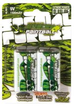 Batteries 9v by 2 energy paintball