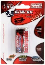 Photo Accu rechargeable type 6LR61 9,6 volts - Energy Paintball