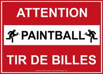 Panneau nf attention tir de billes