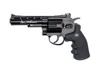 Photo Revolver CO2 Dan Wesson noir 4'' BB's cal. 4,5 mm