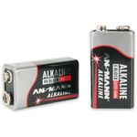 Alkaline battery 6LR61 9 volts - Ansmann