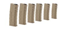 Airsoft Magazine Real Cap 30 rds for M4 AEG Polymer Tan - Pack of 6 pcs