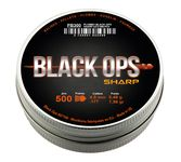 Photo Boîte de 500 plombs Black Ops Sharp à tête pointue cal. 4.5 mm