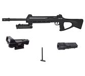 Pack sniper tac6 - CO2 + bi-foot + adjustable laser + charger + red dot