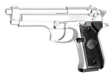Photo Replica pistol M92 chrome gas GNB