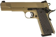 Photo Réplique GBB 1911 MEU Raven full metal gaz tan 1,0 J
