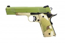 Photo Réplique GBB 1911 MEU Raven full metal gaz Hydro Camo /OD 1,0J