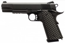 Photo Réplique GBB 1911 MEU Rail Raven full metal gaz noir 1,0J