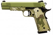 Photo Réplique GBB 1911 MEU Rail Raven full metal gaz Camo OD 1,0J