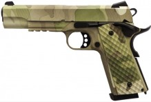 Photo Réplique GBB 1911 MEU Rail Raven full metal gaz Camo 1,0J