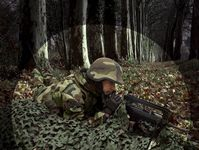 Photo Filet de camouflage 3D retardant feu compact